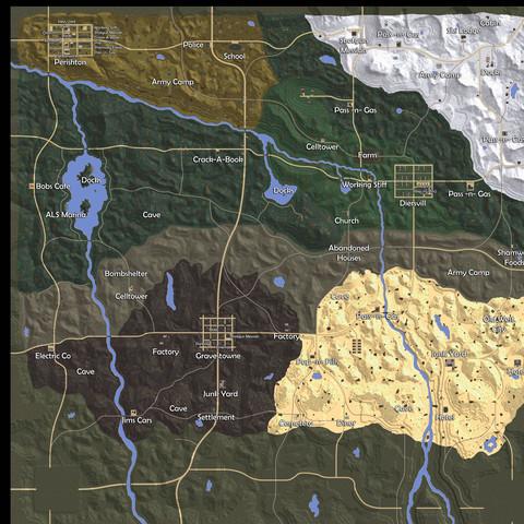 7 days to die karte Gibt es ein Unterschied zwischen der Navezgane Map (PC) und der  7 days to die karte