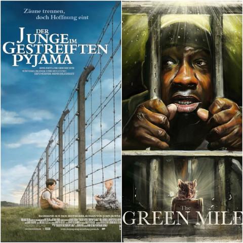 Der Junge im gestreiften Pyjama und The Green Mile - (Film, Buch, traurig)