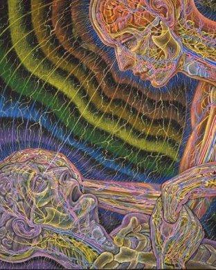 Trost im Sterben (Alex Grey) - (Biologie, Tod, Lebewesen)