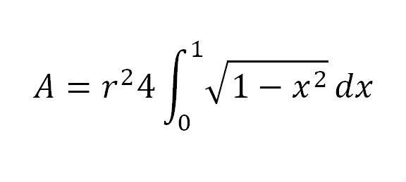 Kreisfläche ohne Pi - (Mathe, Mathematik, Formel)