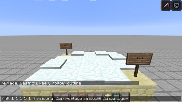 so ungefähr - (Minecraft, Schnee, Befehle)