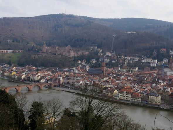 Heidelberg Panorama vom Philosophenweg aus - (Reise, Deutschland)