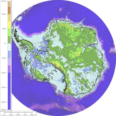 Untergrund-Gestein der Antarktis - (Leben, Klima, Antarktis)
