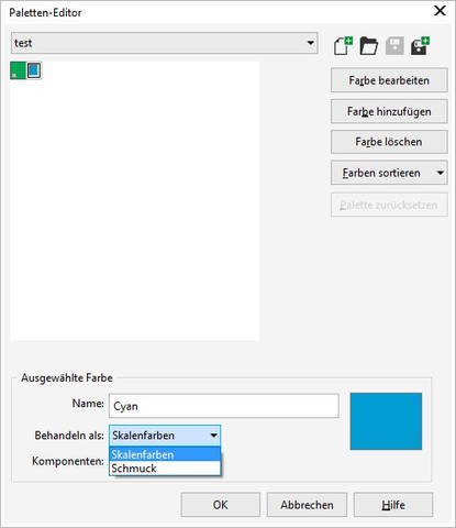 Schmuckfarbe - (Farbe, Grafik, corel draw)
