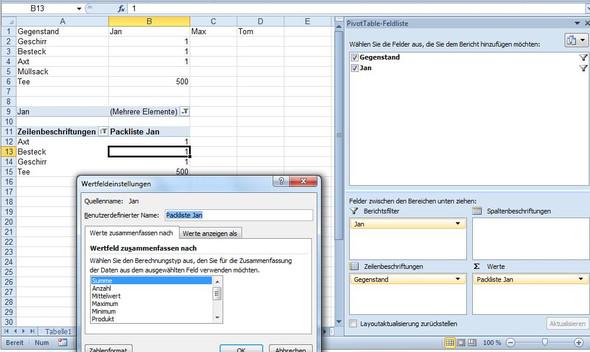 - (Excel, Funktion, Vergleich)