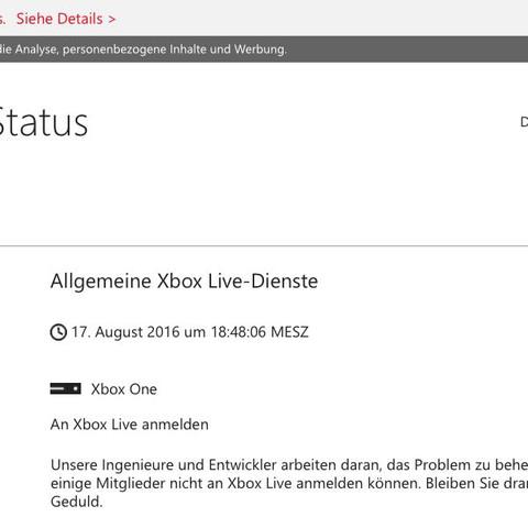 Xbox live Status. - (Freunde, XBOX ONE, offline angezeigt)