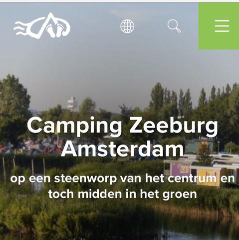Landing page of Camping Place Zeeburg - (Reise, Hotel, Unterkunft)