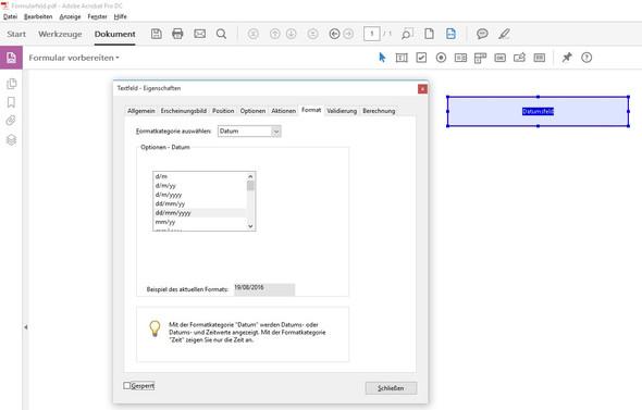 Datumsfeld - (Fragen, Adobe, PDF)
