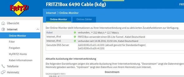 FB - (Fritz Box, 1und1, Internet Volumen)