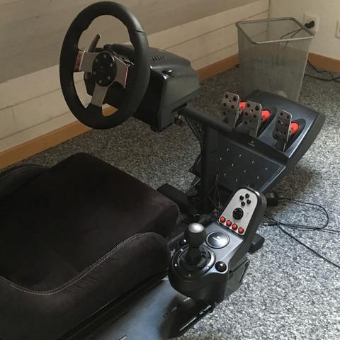 Sitz verstellbar Lenkrad verstellbar H schaltung Sequentiel-Schaltung - (Auto, Gaming, City Car Driving)