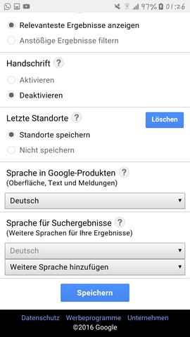 - (Google, Suchverlauf)