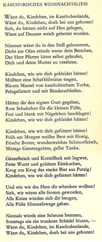 Kaschubisches Weihnachtslied - (Literatur, Gedicht)