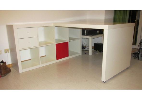 Ikea Kallax Regal Mit Schreibtisch Möbel