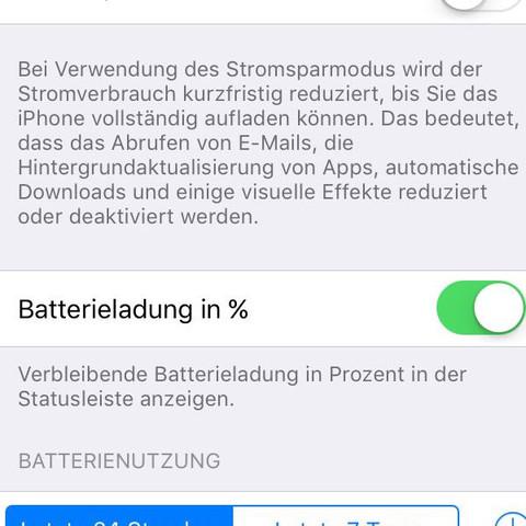 Stromsparmodus einschalten und Apps ansehen, welche am meisten Akku benötigt hab - (iPhone, Akku, IPhone 5s)