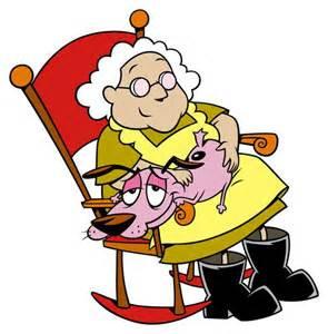 Courage und die Oma - (Fernsehen, Zeichentrick, Cartoon)