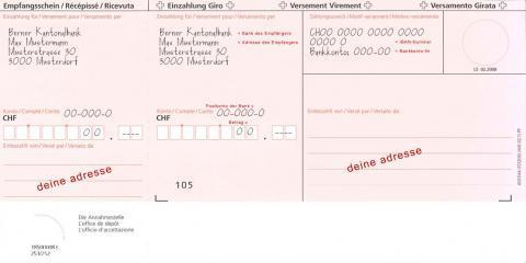 einzahlung auf bankkonto