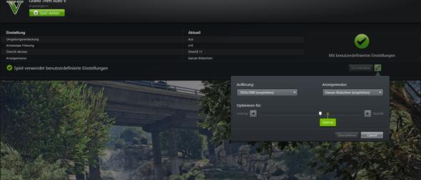 Einfach bei GTA V auf den Schraubenschlüssel (in Geforce Experience) - (PC, Gaming, Nvidia)