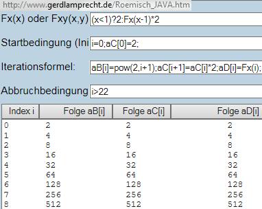 Iterationsrechner mit 2 rekursiven Algorithmen - (Mathematik, Folgen, Rekursive darstellung)