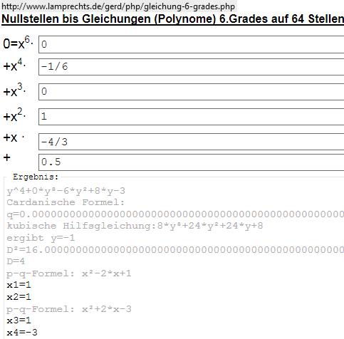 universeller Polynomgleichungslöser - (Mathe, Mathematik, Nullstellen)