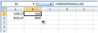 Obergrenze - (Computer, Excel, aufrunden)