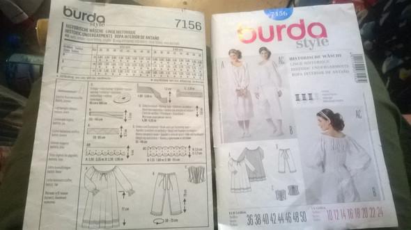 Burda style,historischen Wäsche mit Korsage 7156 - (nähen, Stoff, Material)