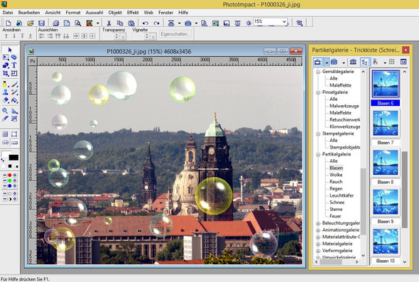 Seifenblasen mit PhotoImpact - (Software, Bildbearbeitung, Bildbearbeitungsprogramm)