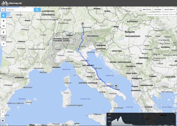 Route - (Reise, Rad)