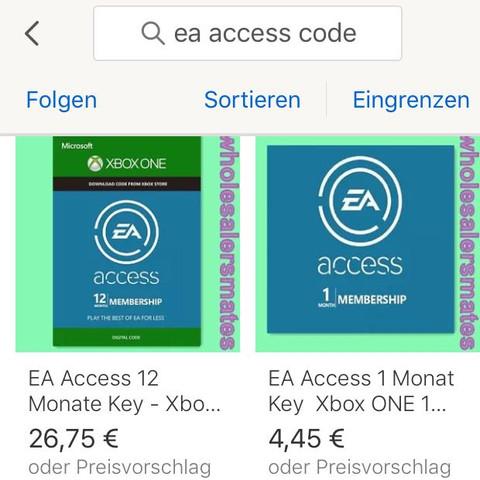 EBay. - (bezahlen, EA Access , Xbox Live Guthaben)