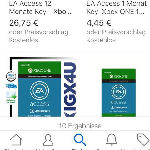 EBay  - (bezahlen, EA Access , Xbox Live Guthaben)