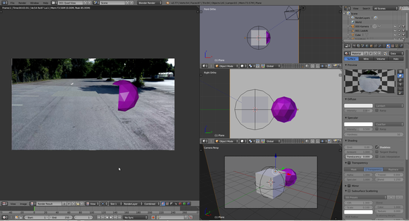 So sieht das ganze in Blender aus - (Animation, Blender, Modelling)