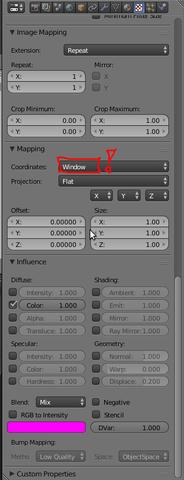 """Die Textur-Projektions-Einstellung """"Window"""" - (Animation, Blender, Modelling)"""
