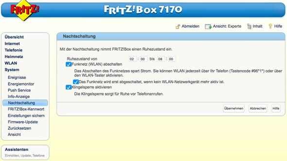 Fritzbox, Nachtschaltung, Klingelsperre  - (Computer, Internet, Telefon)