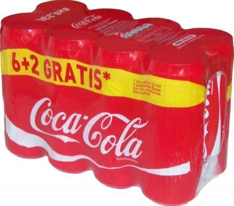 Coca-Cola Dosen Multipack 6+2 Gratis - (Geld, billig, Handel)