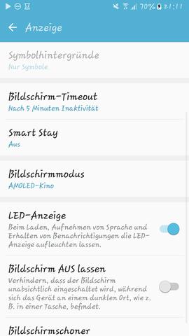 """Bei mir (Samsung Galaxy S6 edge) besteht das selbe """"Problem"""" - (Samsung, Android, Symbolhintergrund)"""