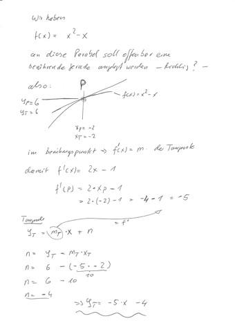 - (Mathe, Mathematik, tangente)