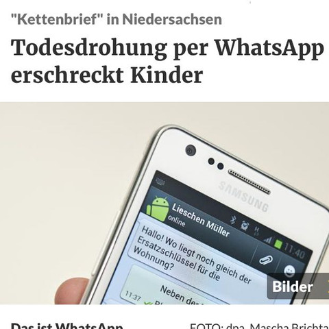 ......! - (WhatsApp, Hacker, Kettenbrief)