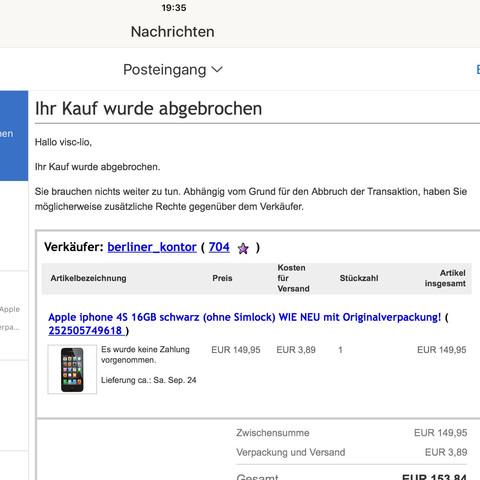 Käufer Antwort  - (Internet, Geld, iPhone)