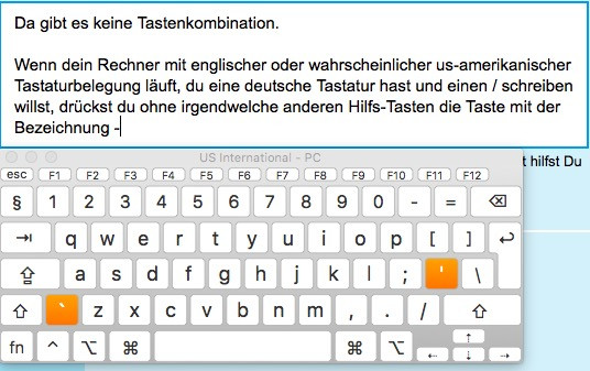 Tastaturbelegung us-amerikanisch - (Apple, Macbook)