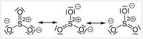 Mesomerie des Sulfitions - (Chemie, strukturformel)