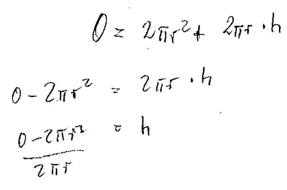 Formel fur mantel von zylinder
