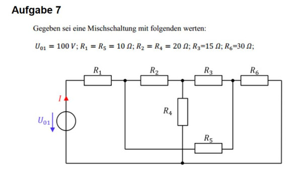Aufgabe - (Mathe, Elektronik, Elektrik)