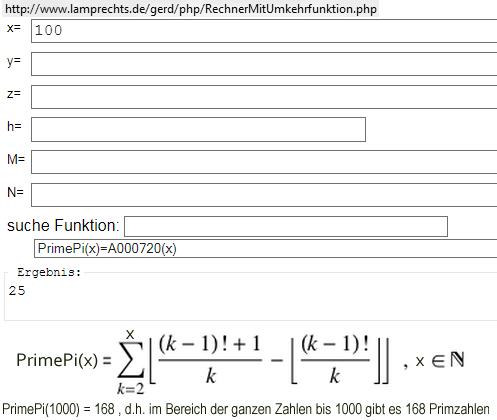 PrimePi(x)  - (Mathe, Primzahlen)