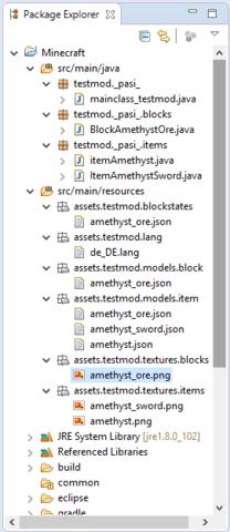 Package Explorer - (Minecraft, programmieren, Fehler)