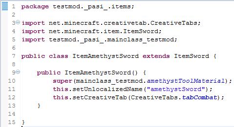 ItemAmethystSword.java - (Minecraft, programmieren, Fehler)