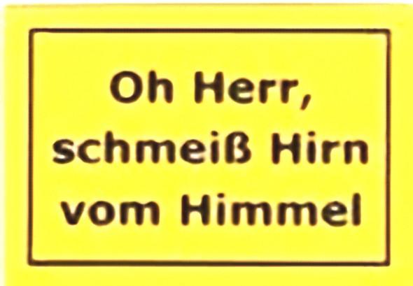 HIRN VOM HIMMEL - (Christentum, Bibel, Maerchen)