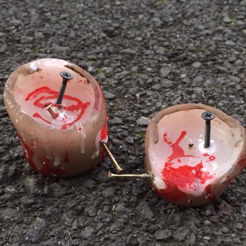 Das sind die Kerzen.  - (Deko, Haloween)
