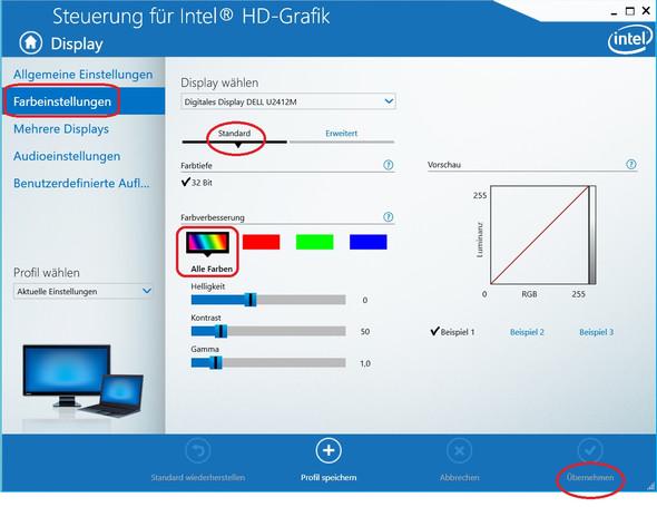 Intel HD-Grafik, Helligheit und Kontrast korrigieren - (Computer, PC, Technik)