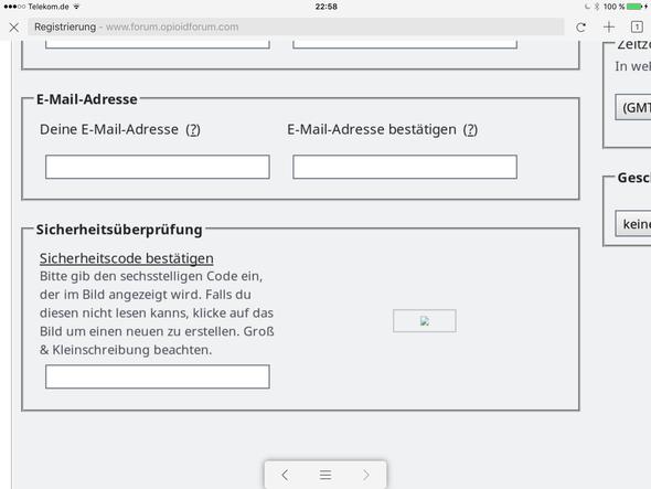 Anderer Browser - (Registrierung, Sicherheitsabfrage, Forumsanmaldung)