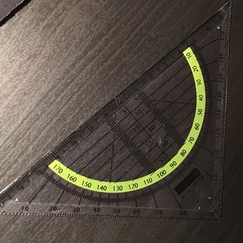 Geodreieck  - (Mathe, Geometrie, Winkel)