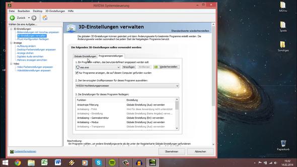 - (Windows, Nvidia, Leistung)